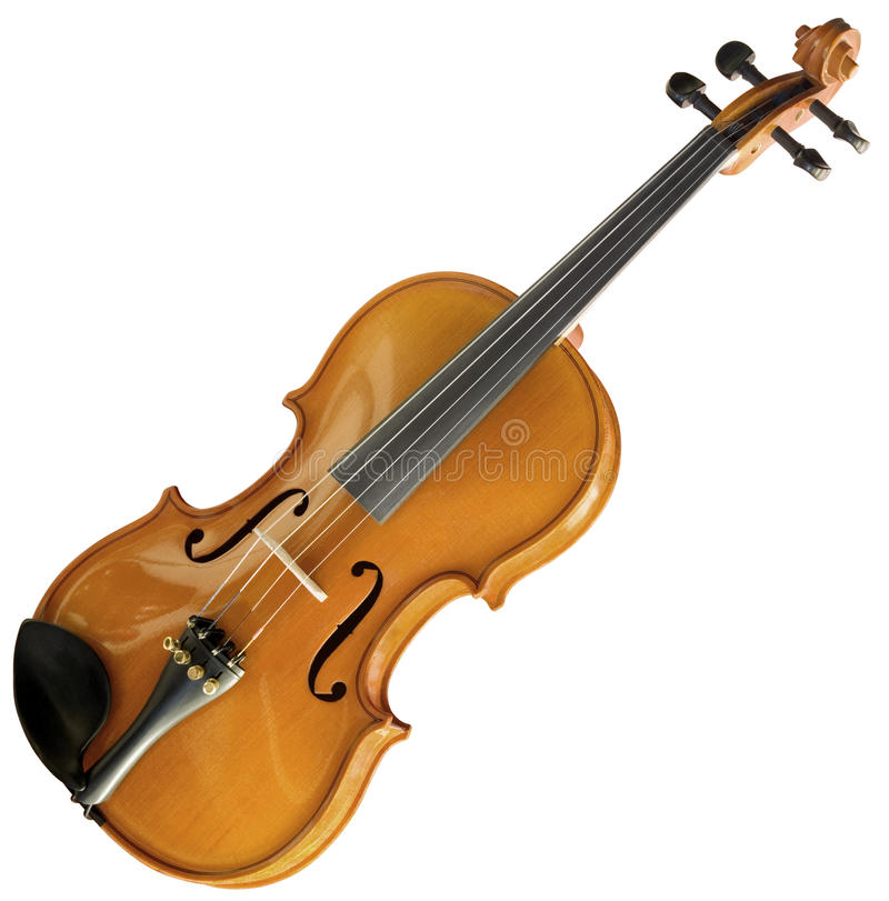 Violin cutout. Violin isolated with clipping path royalty free stock photography