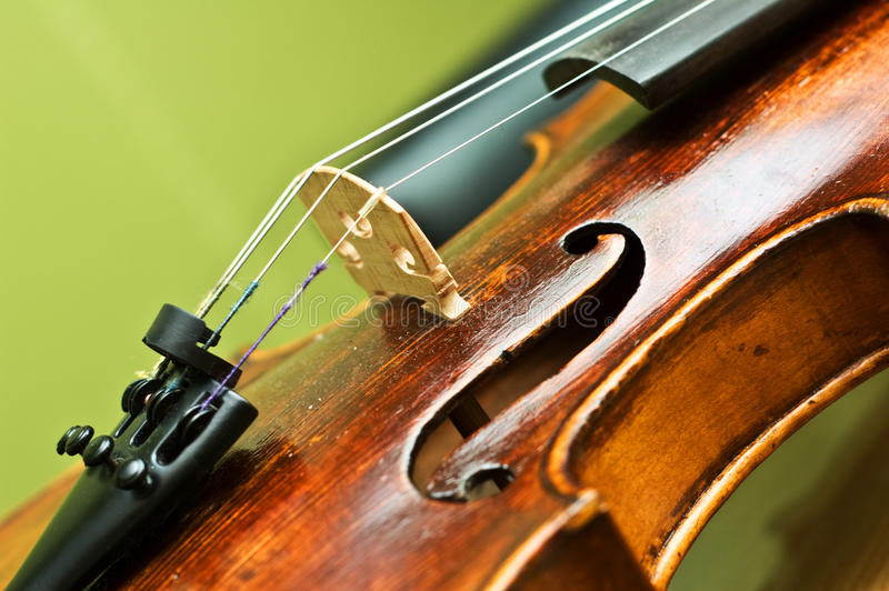 Violin detail royalty free stock images