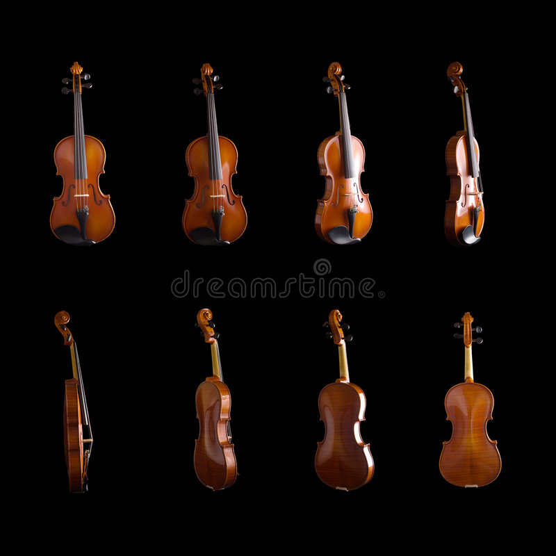 Violin from different angles stock image