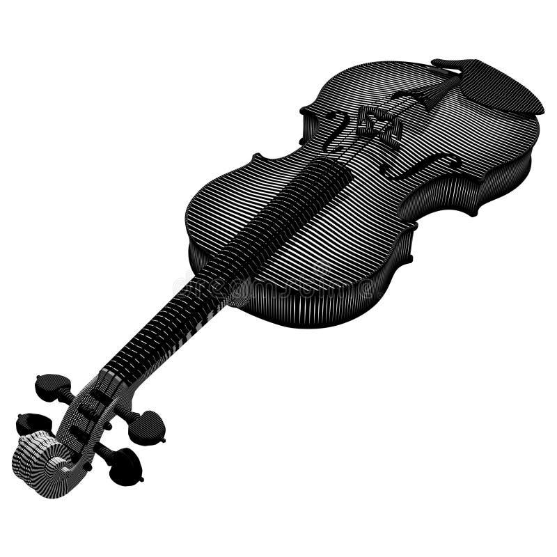 Violin Engraving stock photography