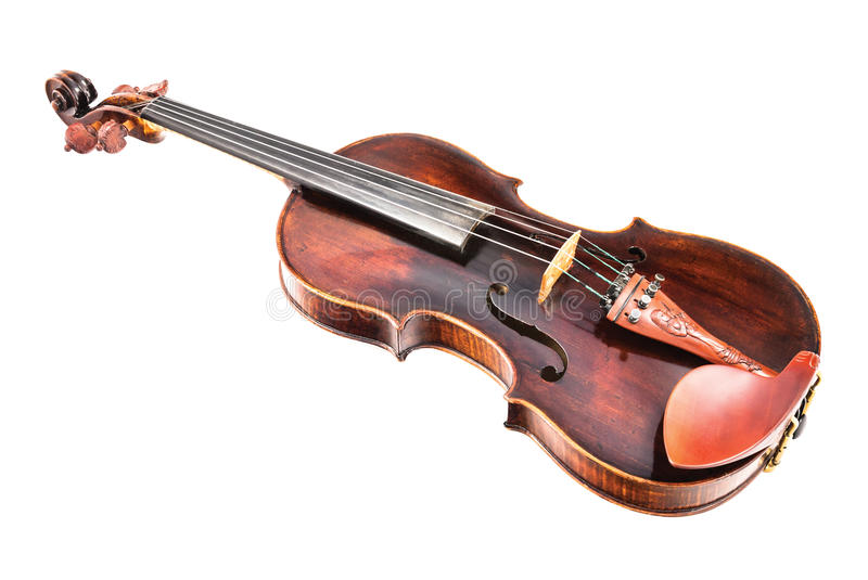 Violin or fiddle. On a white background royalty free stock photos