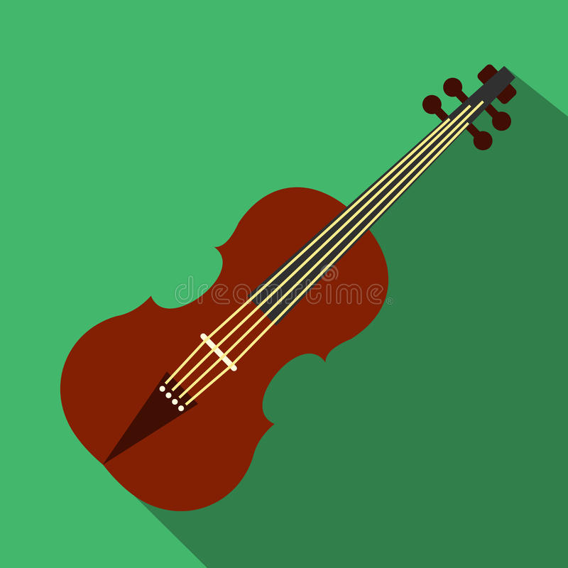 Violin flat icon. For web and mobile devices royalty free illustration