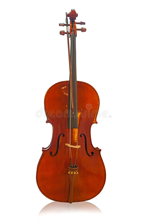 Violin front view stock image