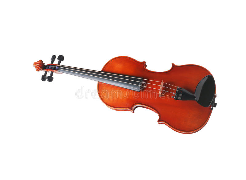 Violin front view stock photos