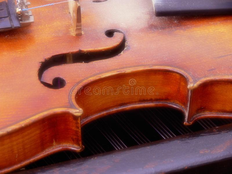 Violin and G key royalty free stock photo