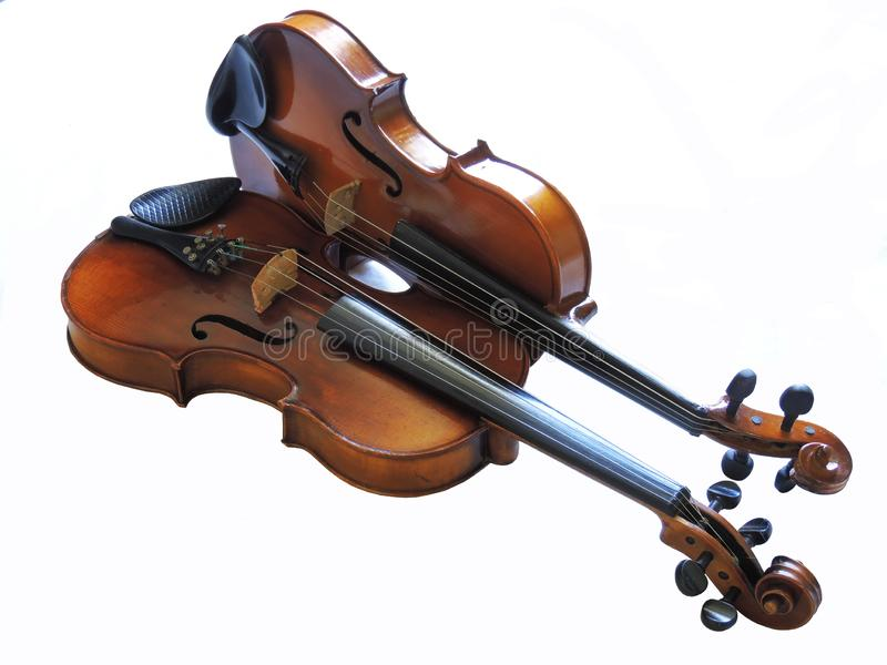 Violin Germain, classical musical instrument royalty free stock photos