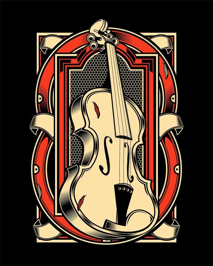 Violin  hand draw royalty free illustration