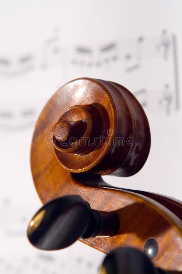 Download Violin head stock image. Image of macro, fiddle, fingerboard - 523507