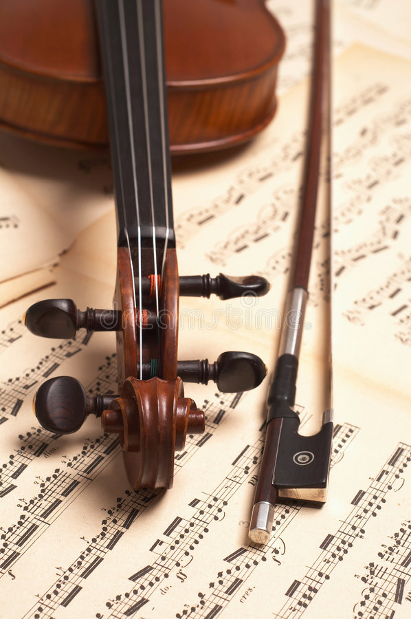 Download Violin head stock photo. Image of fiddle, isolated, four - 523726