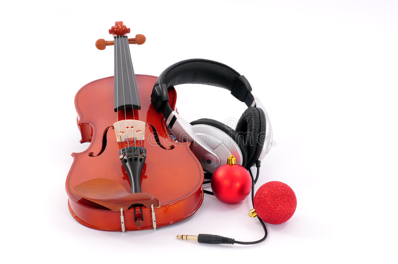Download Violin and headphones stock image. Image of musician, hand - 7157725