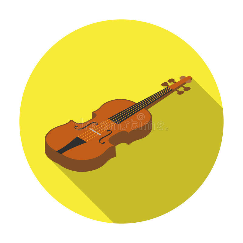 Violin Icon In Flat Style Isolated On White Background Musical