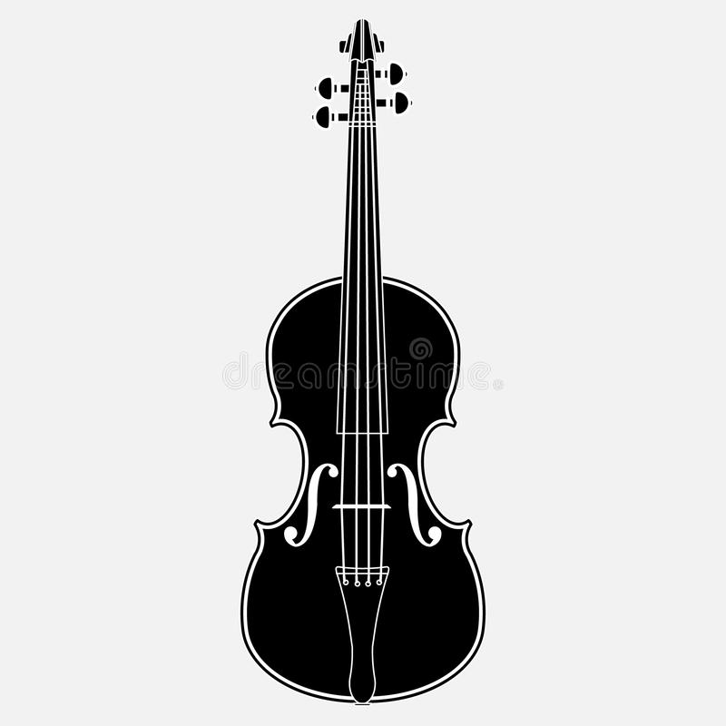 Violin Icon. Isolated on white background. Vector illustration. Eps 10 stock illustration