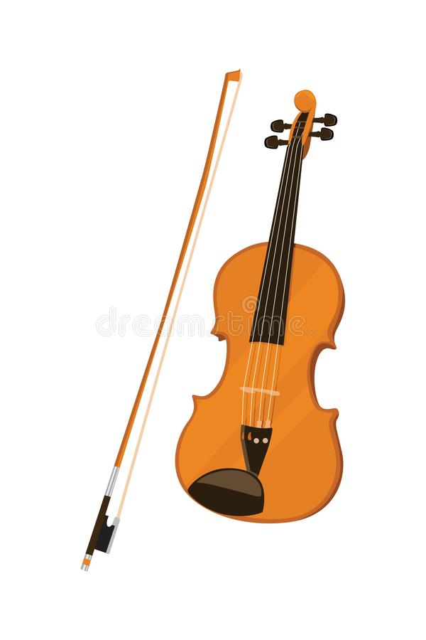 Violin Instrument Vector Illusrtration. Biola is a stringed instrument that is played by swiping. Among the violin family, namely with alto violins, cello and vector illustration