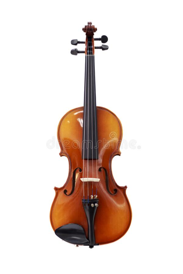 Violin isolated on white background, a symbol of classical music stock photos
