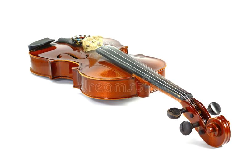 Violin isolated on white. Music background royalty free stock photography