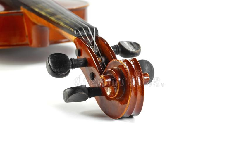 Violin isolated on white. Music background stock photos