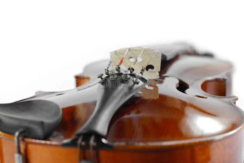 Violin isolated on white. Music background royalty free stock photo