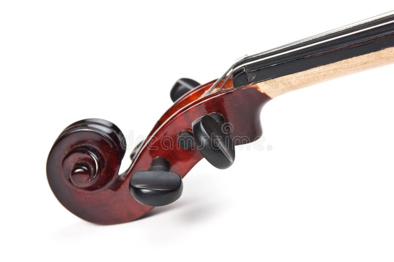 Violin isolated on white. Background royalty free stock photos