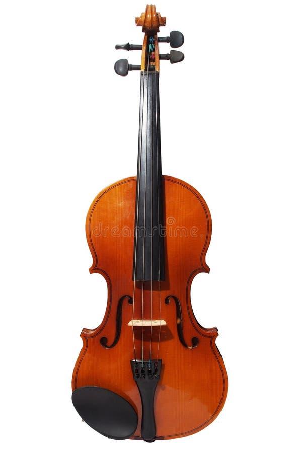 Violin isolerat i vit bakgrund arkivfoto
