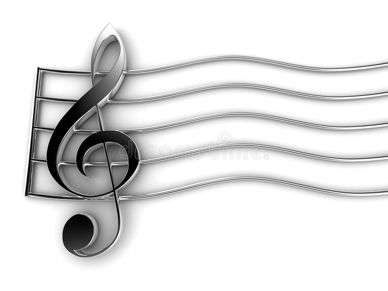 Violin Key royalty free illustration