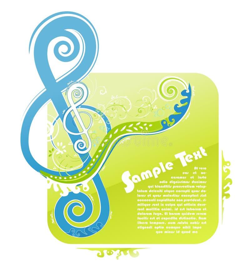 Download Violin Key Floral Design Royalty Free Stock Images - Image: 14203399