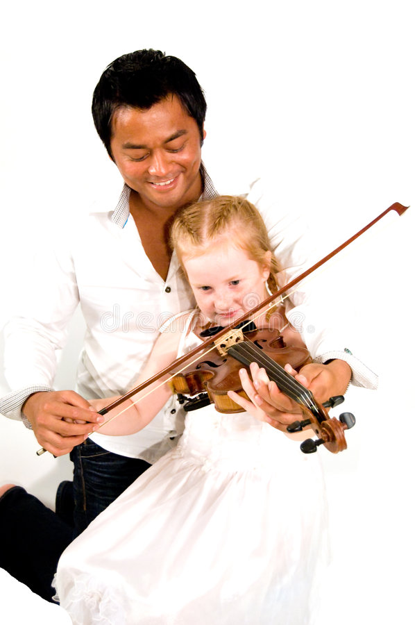 Violin lessons royalty free stock image