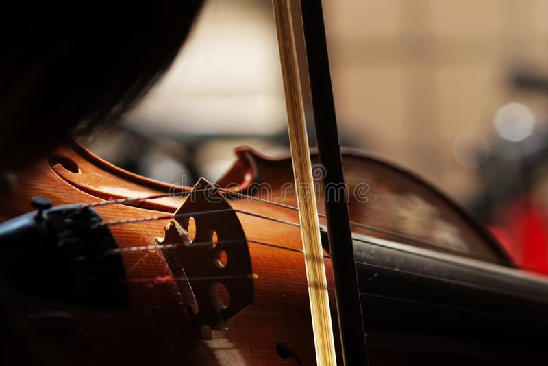 Violin with little dust. My Violin with little dust for background use royalty free stock photo