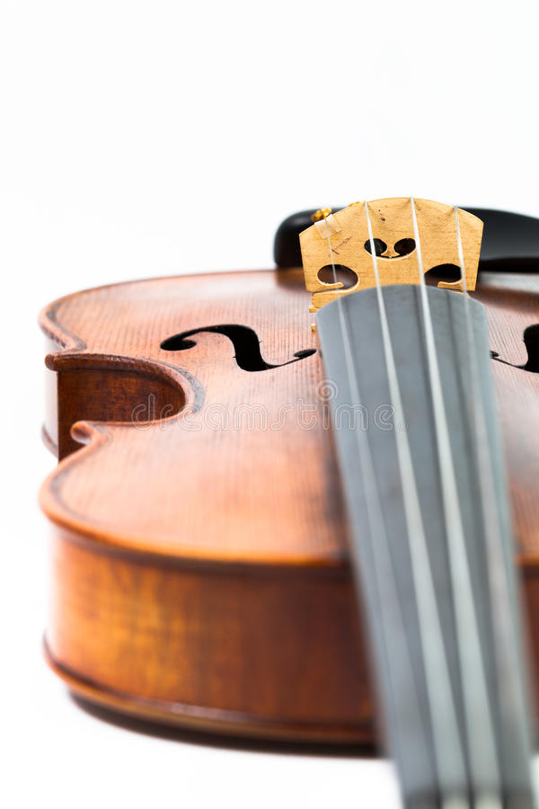 Violin music instrument isolated on white. Violin music instrument isolated white stock photography