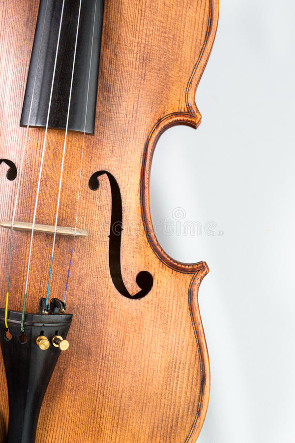 Violin music instrument isolated on white. Violin music instrument isolated white royalty free stock photo