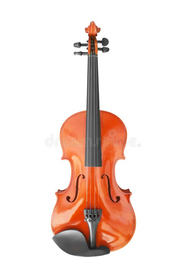 Violin music instrument  on white. Background, classical, musical, cello, orchestra, wood, concert, old, string, art, viola, symphony, melody, brown, antique royalty free stock photography
