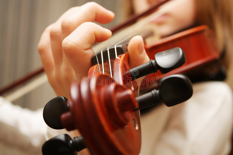 Violin music play stock image