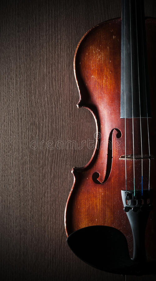 Violin. Part of the violin oh the flor stock image