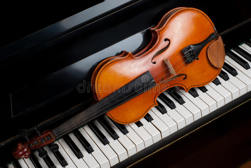 Violin and piano royalty free stock photography