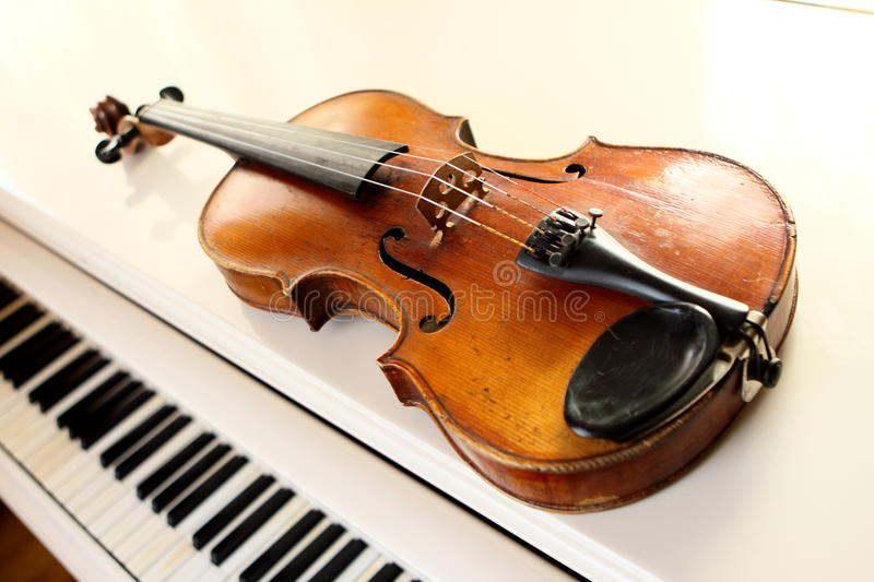 Download Violin and piano keys stock image. Image of instrumental - 10889085