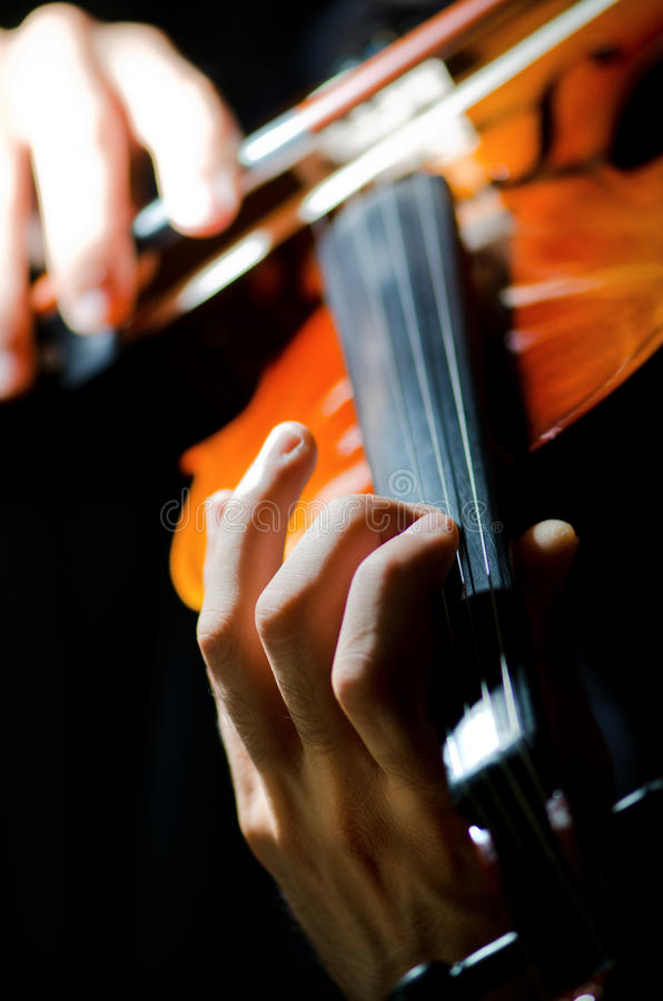 Download Violin Player Playing  Intstrument Stock Photo - Image: 22339812