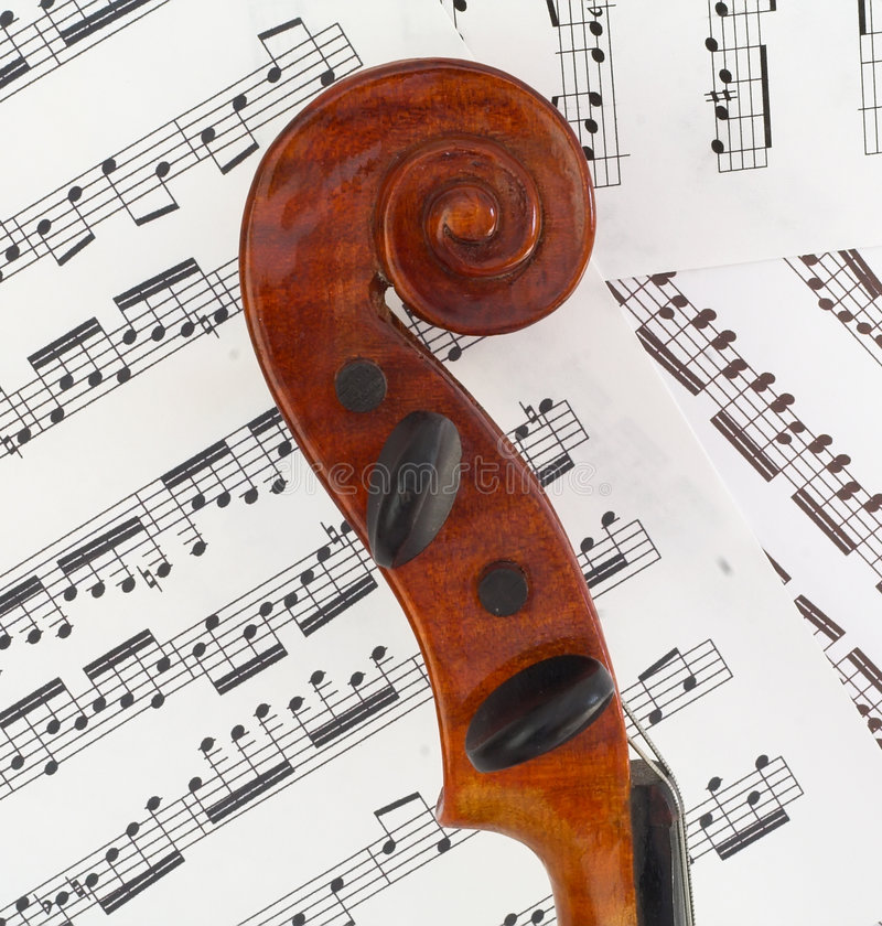 Violin Profile Scroll royalty free stock photography