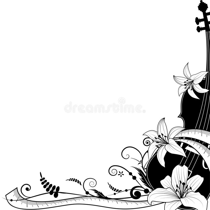 Violin with sartorial meter, allegory royalty free illustration