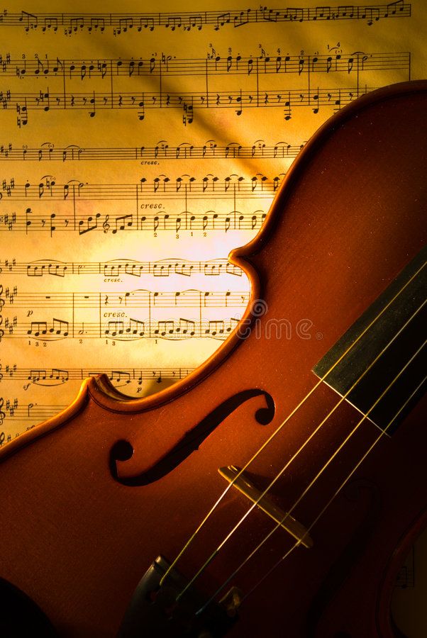 Download The violin with score stock image. Image of melody, classical - 2172283