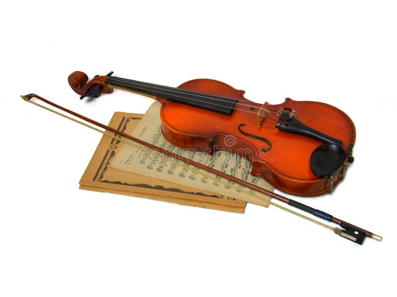 Violin and scores royalty free stock photos
