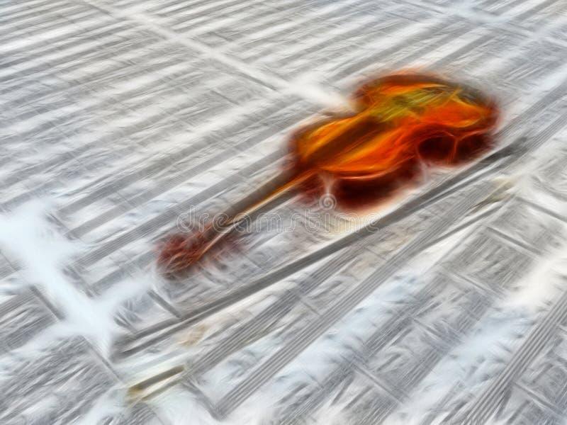 Violin On Sheet Music Royalty Free Stock Image