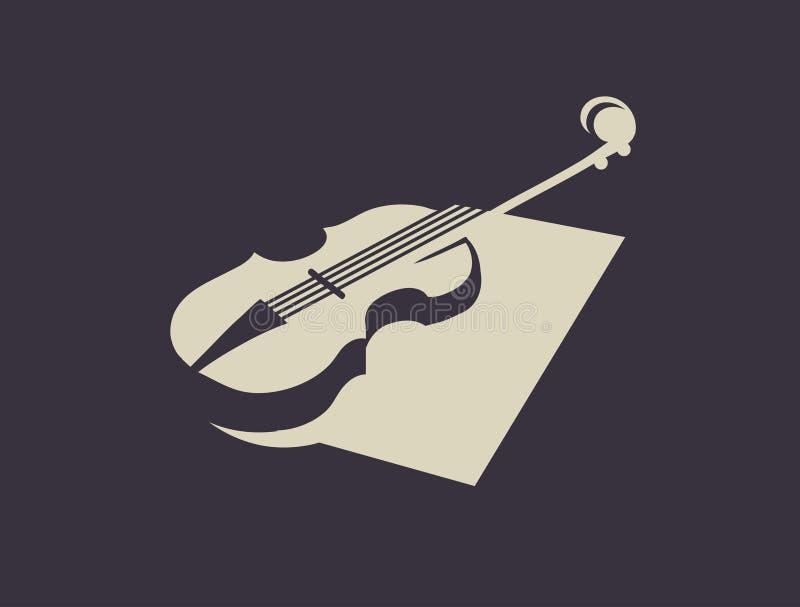 Violin silhouette royalty free illustration