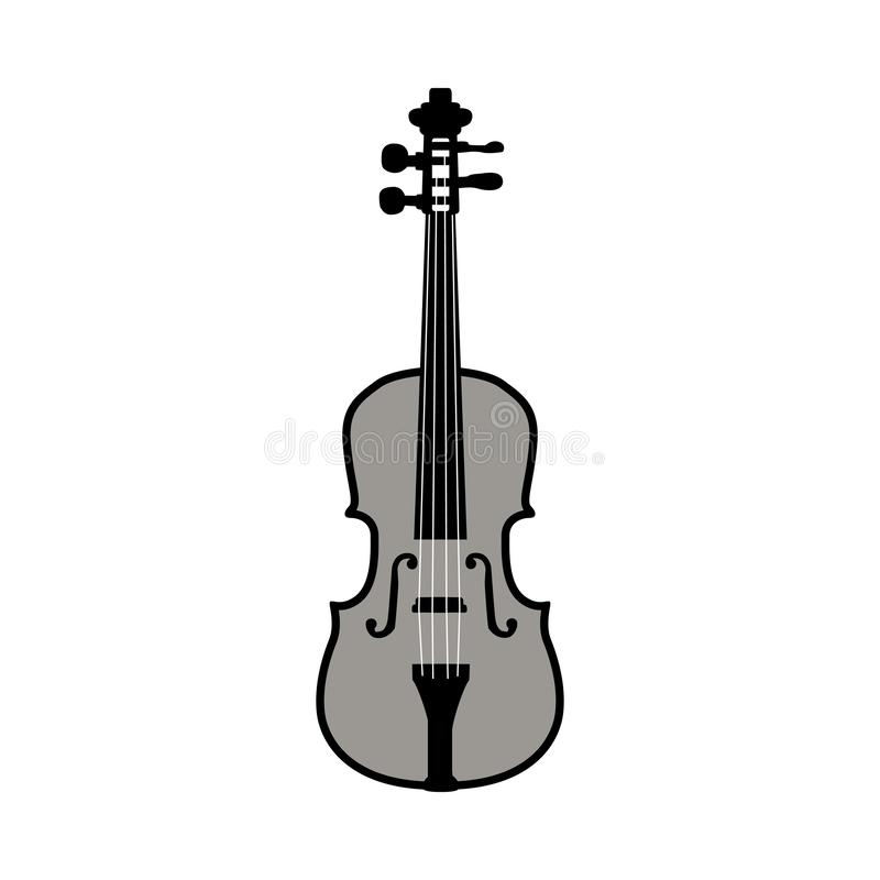 Violin Silhouette stock illustration
