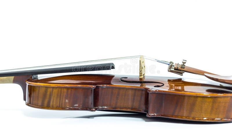 Violin strings. Close up view on violin strings and violin body stock photo