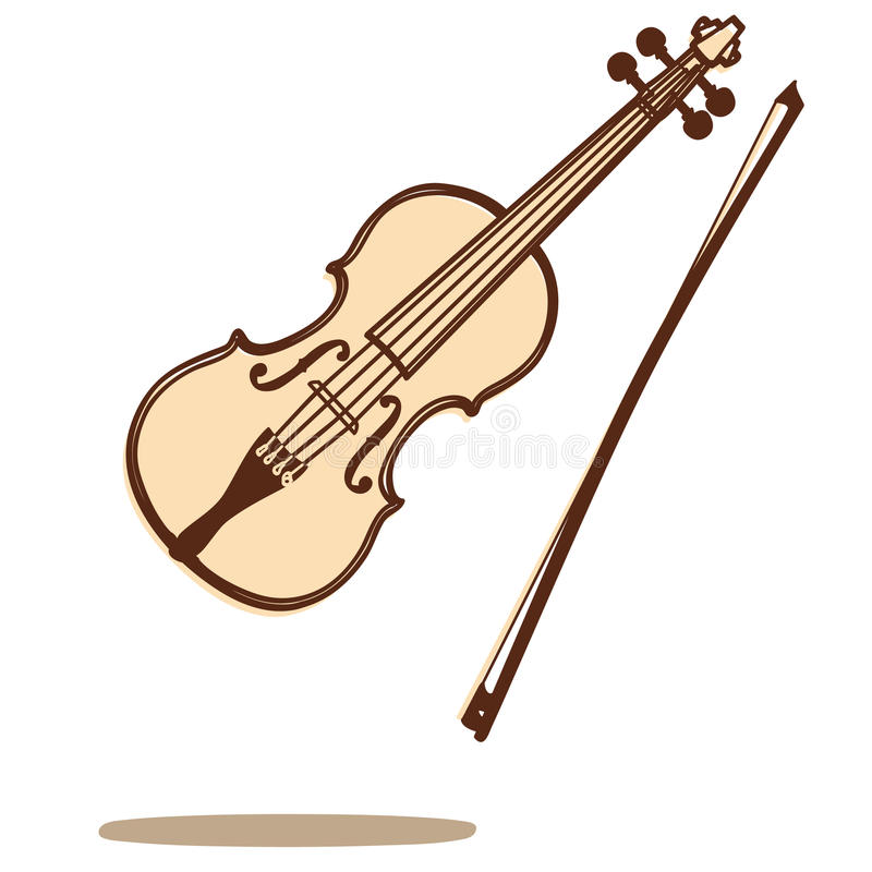 Violin vector stock illustration