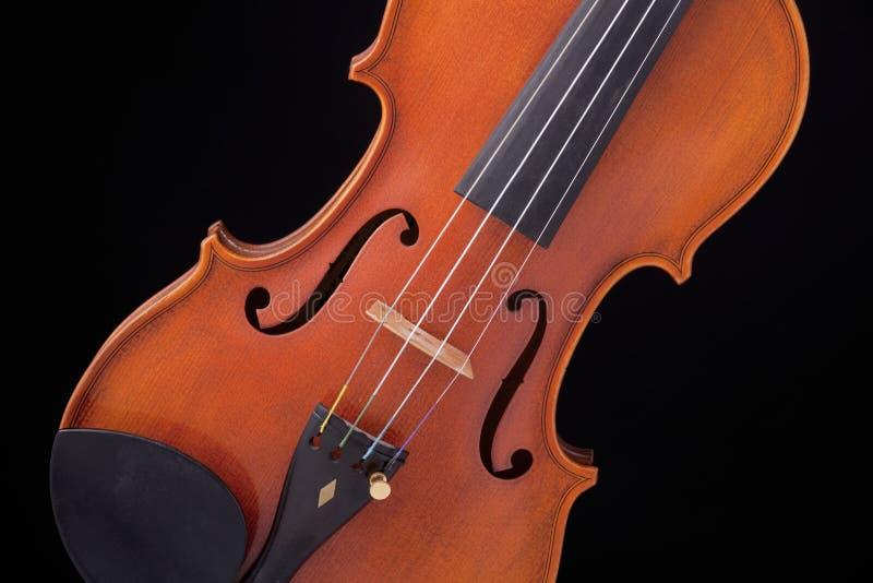 Violin Viola Isolated On Black stock photos
