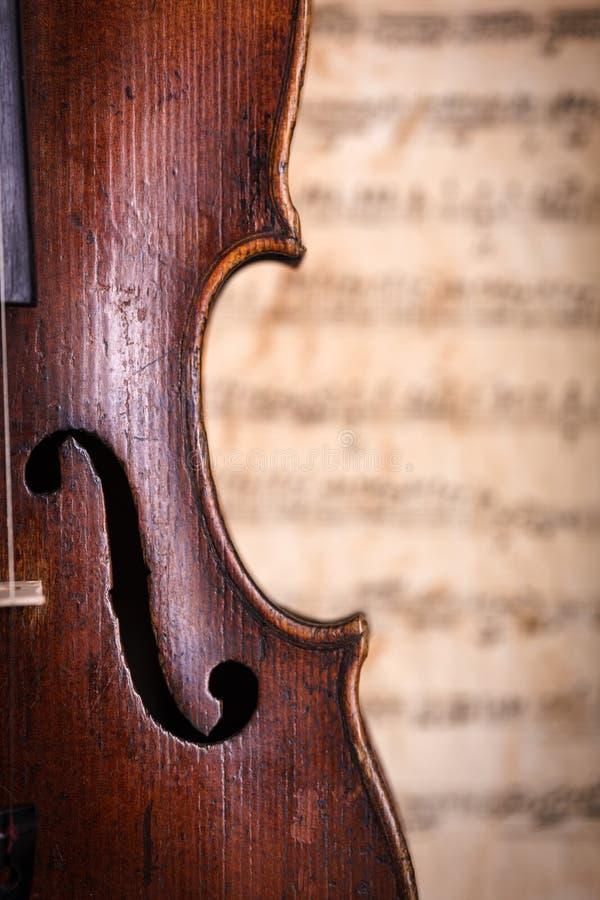 Violin waist detail royalty free stock photos