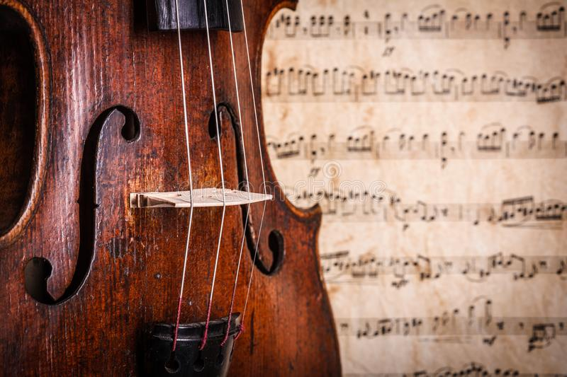 Violin waist detail royalty free stock images
