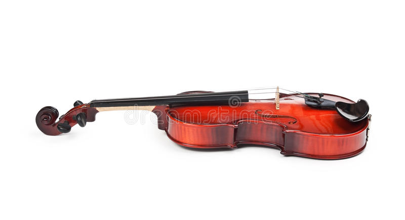 Violin on white. Violin on a white background royalty free stock photography