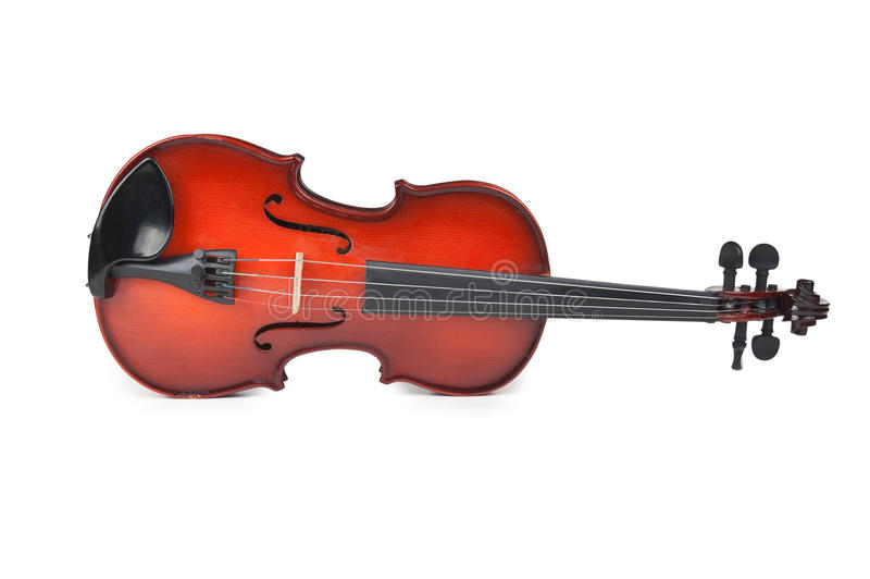 Violin on white. Violin on a white background stock images