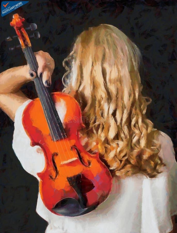 Violin woman - ID: 16218-130700-3238 stock photo